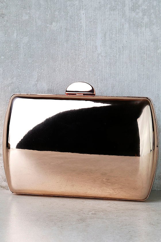 Reflected Image Rose Gold Mirrored Clutch 1