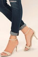 25fe207ce96 Sexy Nude Heels - Ankle Strap Heels - Stiletto High Heels - Lulus