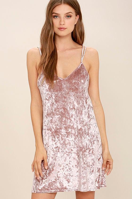 Lovely Mauve Dress Velvet Dress Sheath Dress 49 00