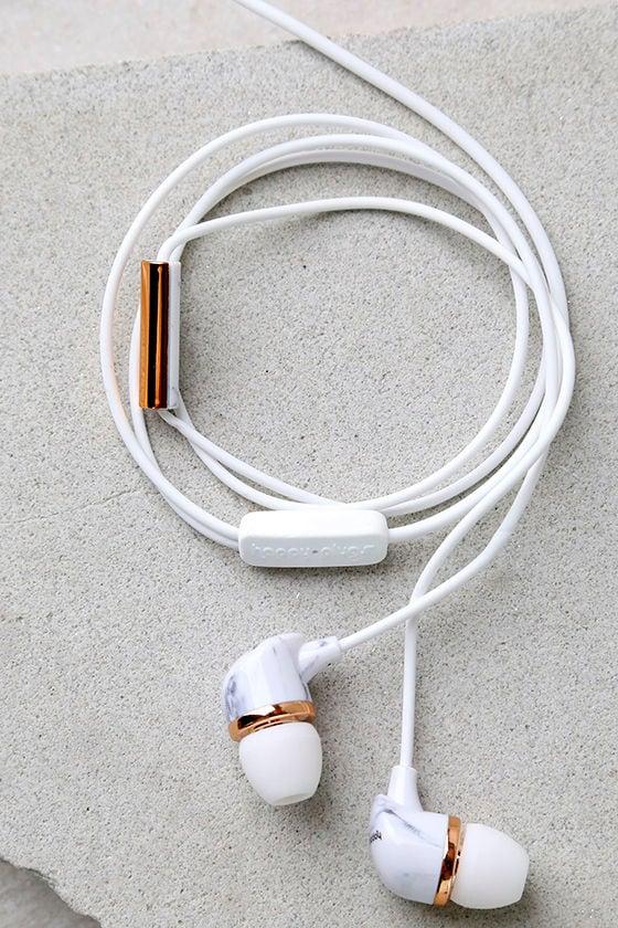 Happy Plugs In Ear Headphones Marble Earbuds Marble