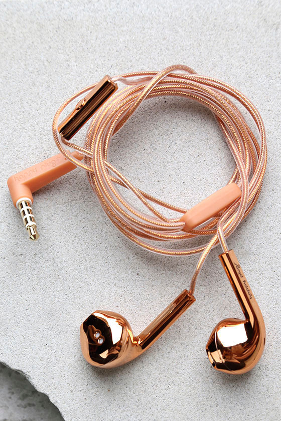 Happy Plugs Earbud Plus Rose Gold Headphones 1