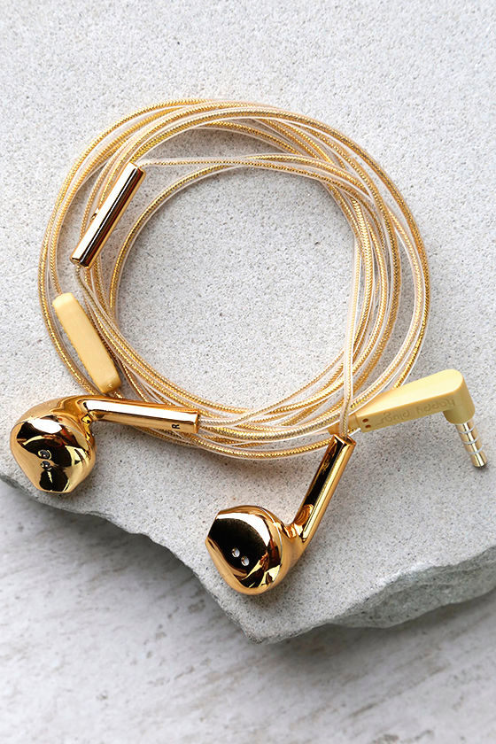 Earbuds gold and black - black and rose gold earbuds