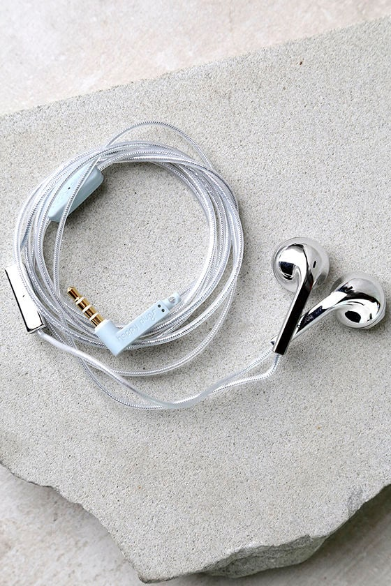 Happy Plugs Earbud Plus Silver Headphones 1