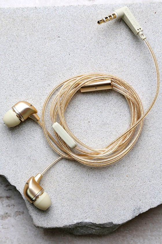 Happy Plugs In-Ear Champagne Headphones 1
