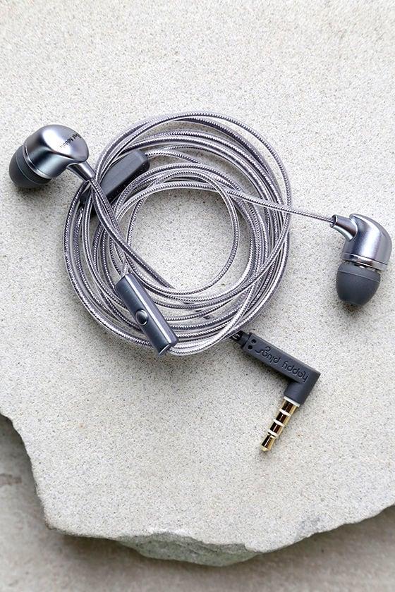 Happy Plugs In-Ear Grey Headphones 1
