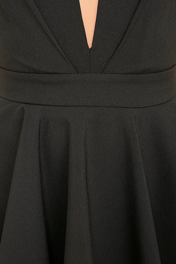 Smile Sweetly Black Skater Dress 6