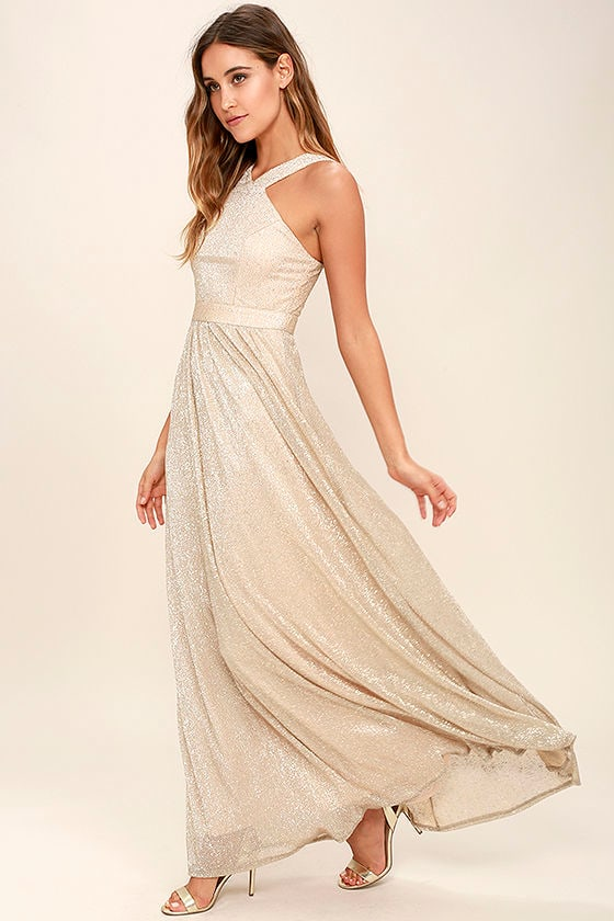 Always Moving Gold Maxi Dress 2