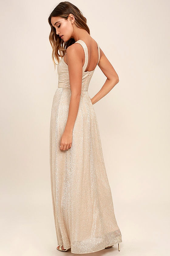 Always Moving Gold Maxi Dress 3