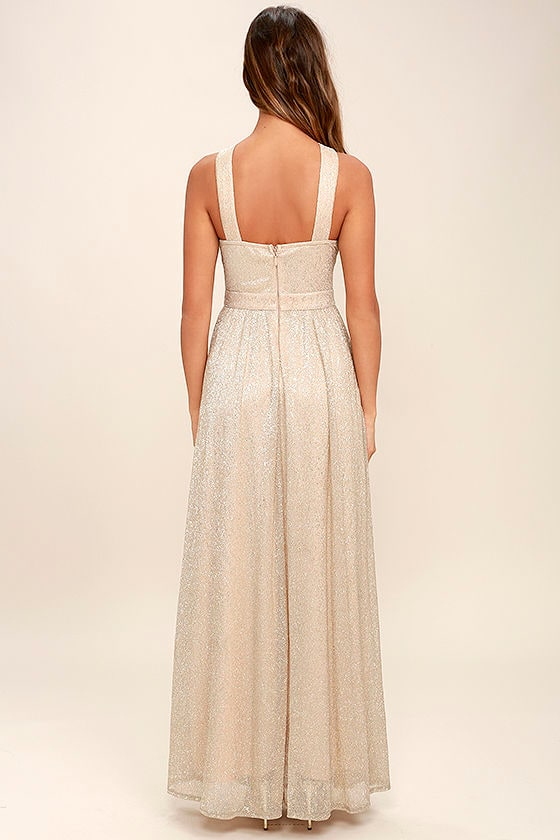 Always Moving Gold Maxi Dress 4