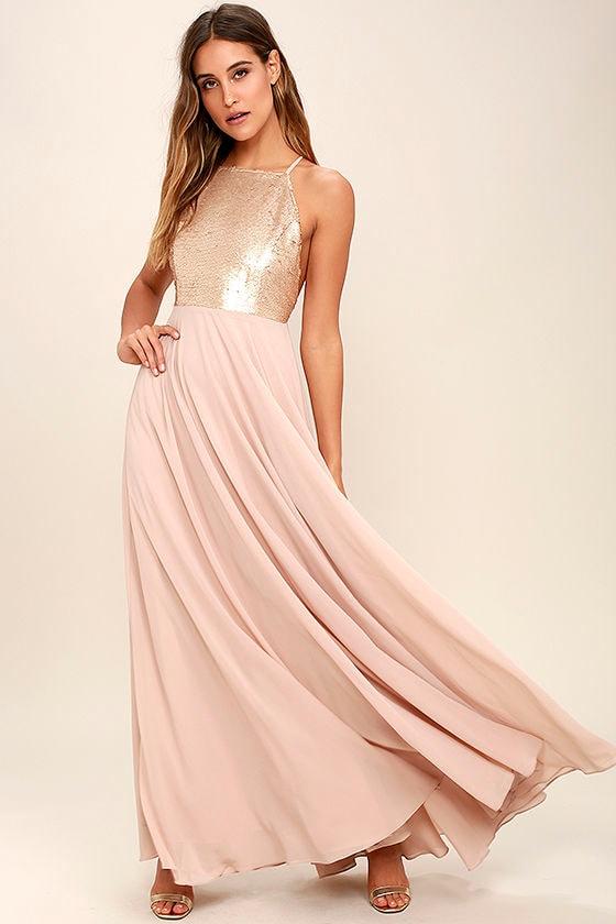 01db64fd Cotillion Matte Gold Sequin Dress. Cotillion Matte Gold Sequin Dress Lulus