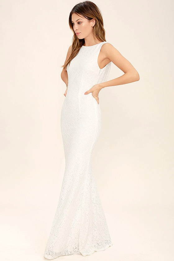 Lovely Ivory Dress - Maxi Dress - Lace Dress - $89.00