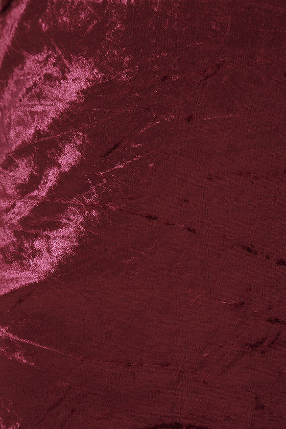 Totally Obsessed Burgundy Velvet Slip Dress 6