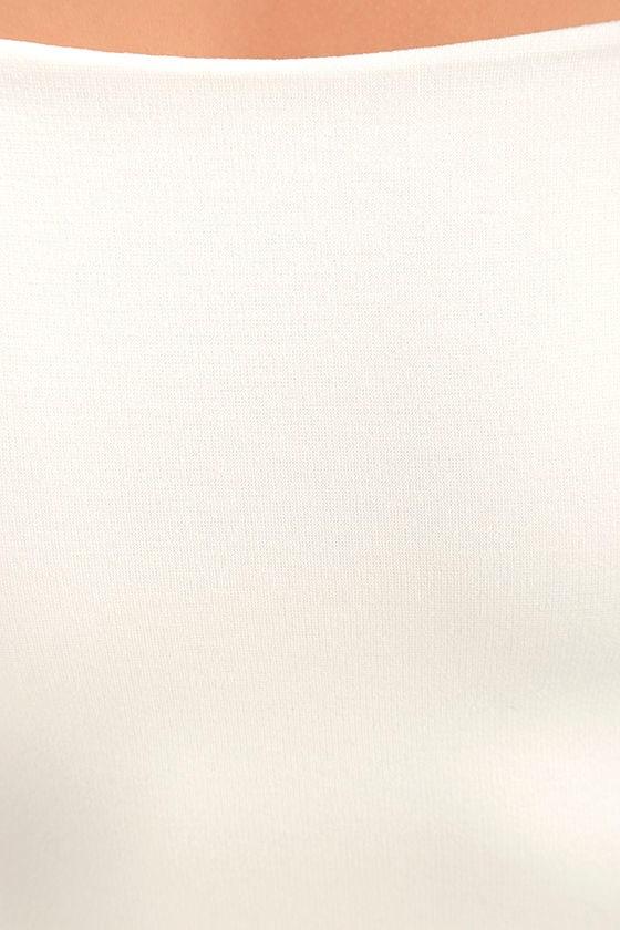 All She Wants White Off-the-Shoulder Midi Dress 6