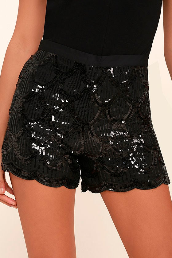 e7f396e0 black sparkly high waisted shorts, Men's Shorts   Women's Shorts ...