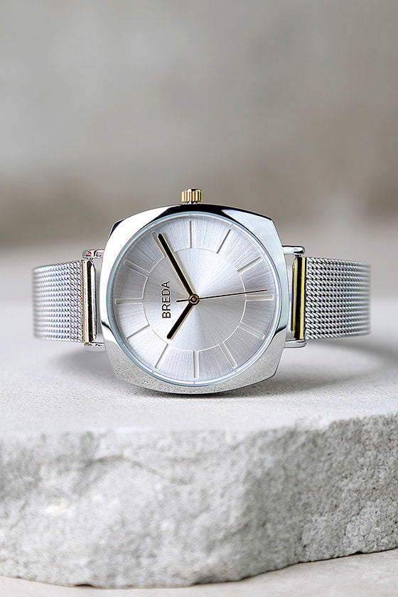 Breda x Lulus Vix Two-Tone Gold and Silver Watch 1