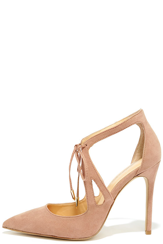 Daya by Zendaya Aaron Blush Suede Pointed Pumps 1