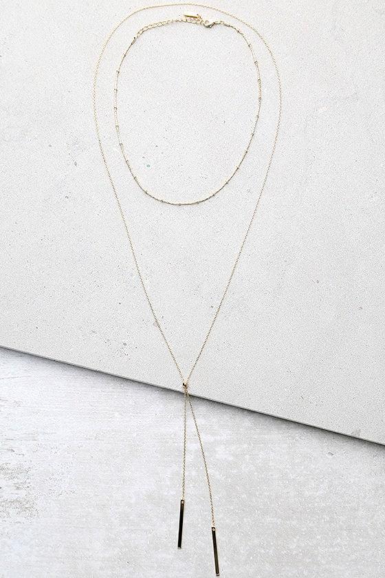 Run to You Gold Choker Necklace Set 1