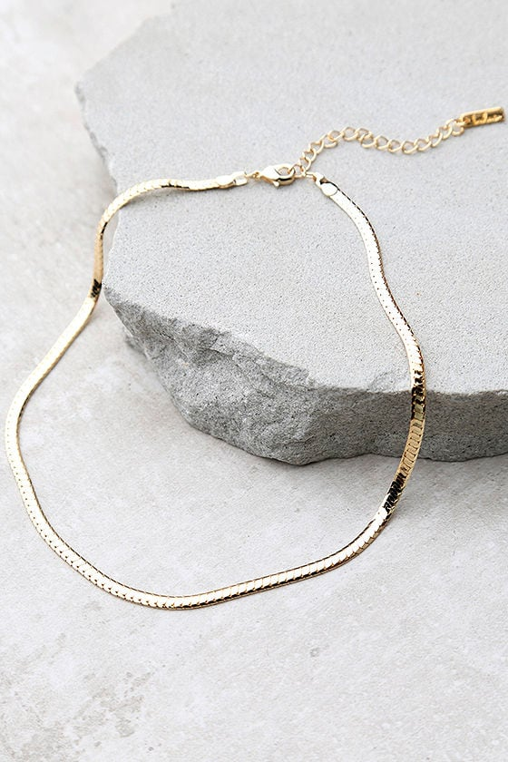 Just Believe Gold Chain Choker Necklace 1