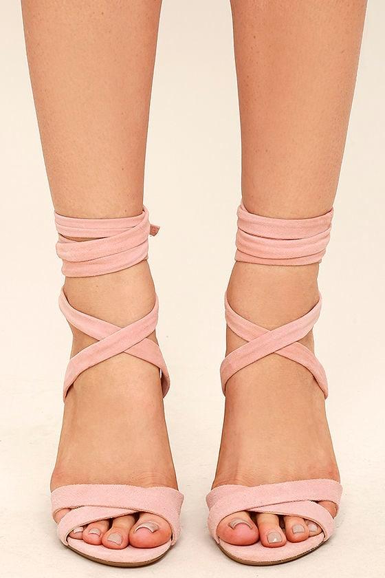 ec6e13d38a7 Steve Madden Christey - Pink Heels - Lace-Up Heels -  109.00