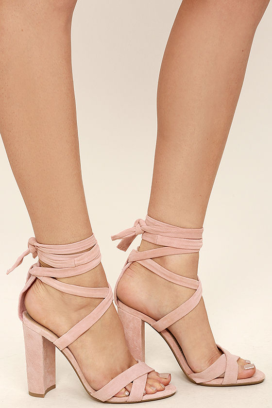Steve Madden Christey Pink Heels Lace Up Heels 109 00