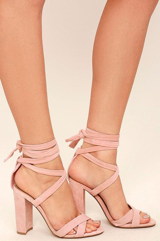Steve Madden Christey - Pink Heels - Lace-Up Heels - 10900-5564