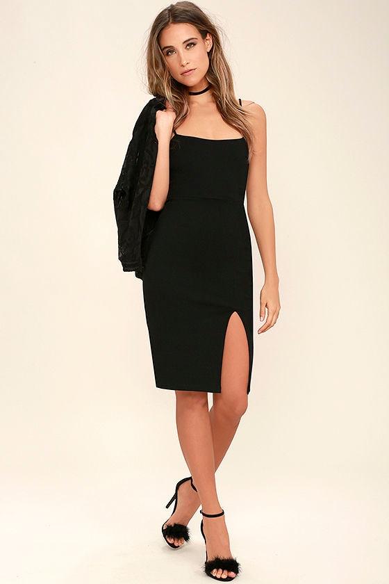 Don't Let Me Down Black Bodycon Dress 2