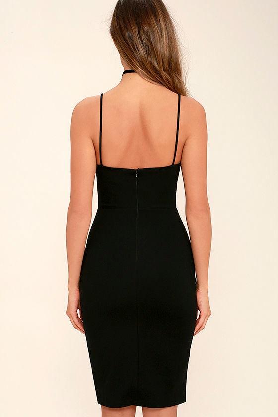 Don't Let Me Down Black Bodycon Dress 4