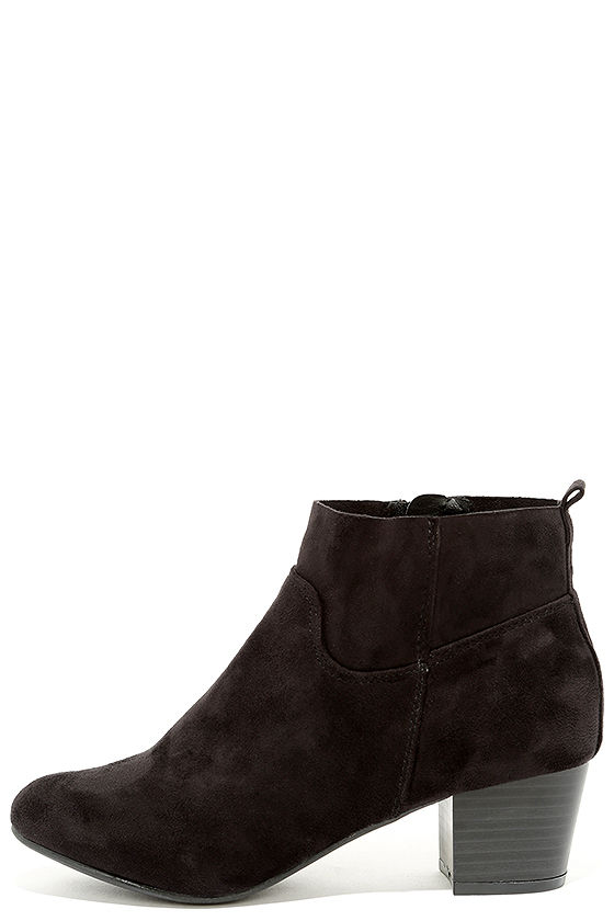River Black Suede Ankle Booties 2