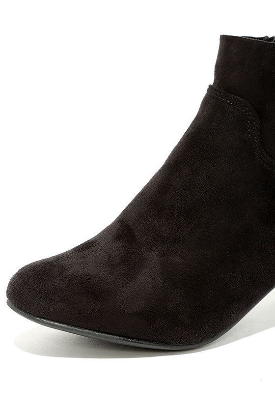 River Black Suede Ankle Booties 6