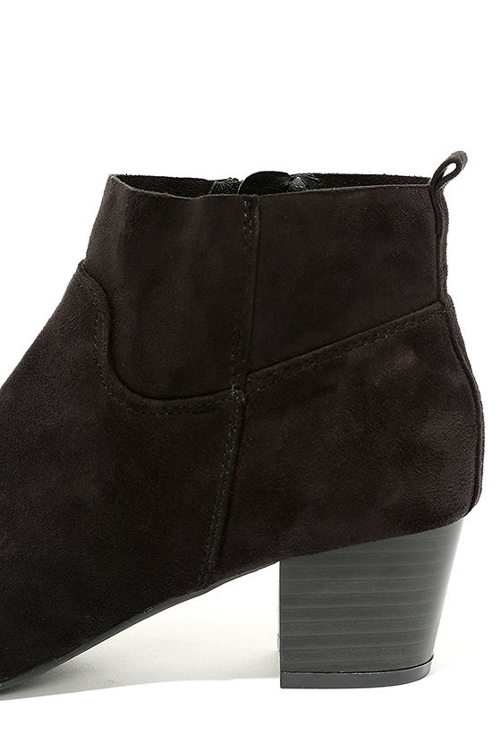 River Black Suede Ankle Booties 7
