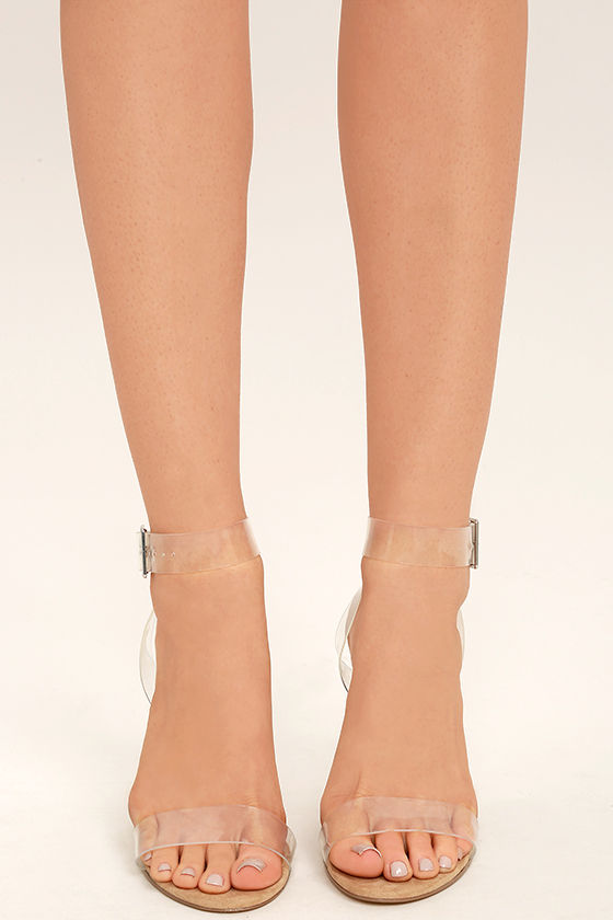 ff791bf0017b Steve Madden Clearer Heels - Clear Heels - Lucite Heels -  109.00