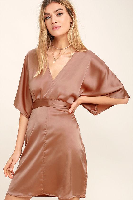 Silk Satin Short Dress