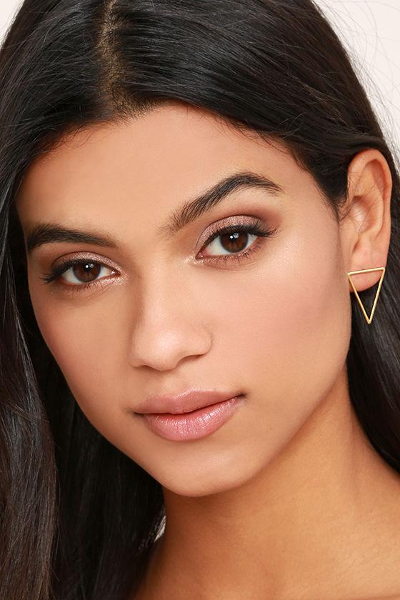 Tessellate Gold Earrings 2