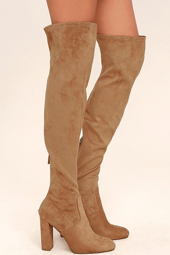 Steve Madden Emotions Camel Suede Over the Knee Boots 3