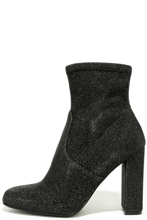 Steve Madden Edit Metallic Knit High Heel Mid-Calf Boots 2