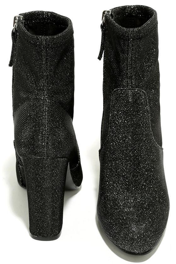 Steve Madden Edit Metallic Knit High Heel Mid-Calf Boots 3