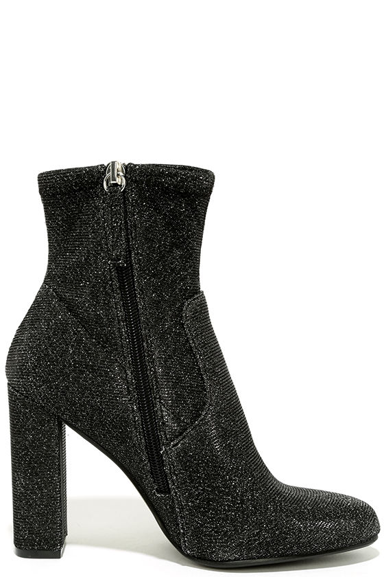 Steve Madden Edit Metallic Knit High Heel Mid-Calf Boots 4