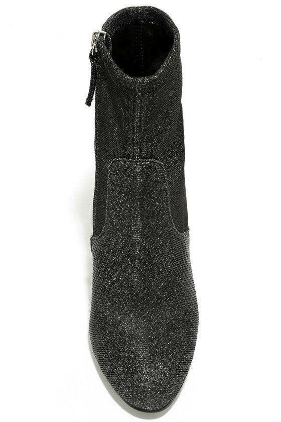 Steve Madden Edit Metallic Knit High Heel Mid-Calf Boots 5