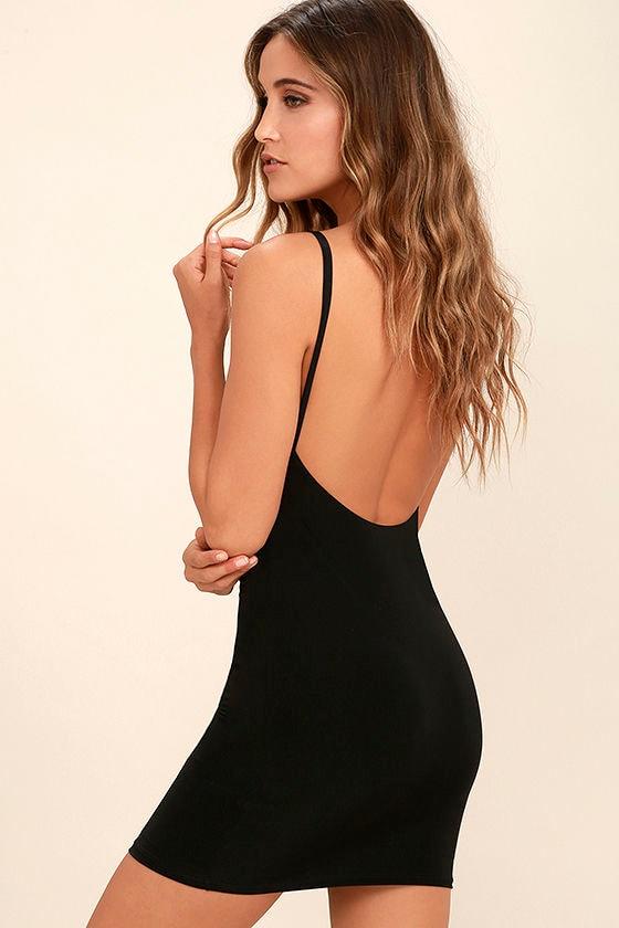 28585d4528357a Black Slip Dress - Bodycon Slip - Layering Slip - Seamless Slip - $29.00