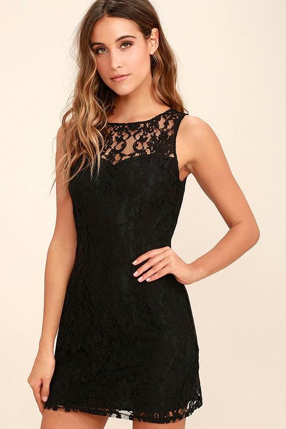 BB Dakota Thessaly - Black Dress - Lace Dress - Sleeveless Dress ...