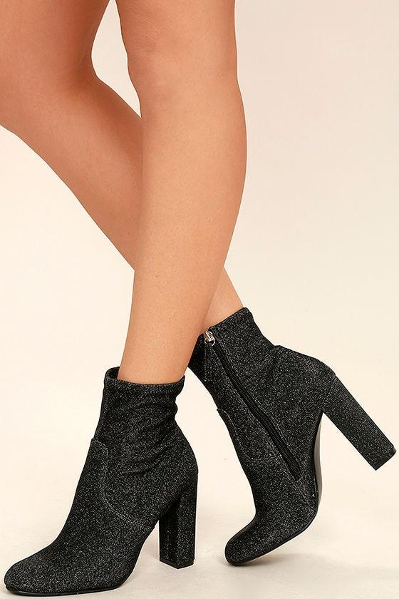 Steve Madden Edit Metallic Knit High Heel Mid-Calf Boots 1