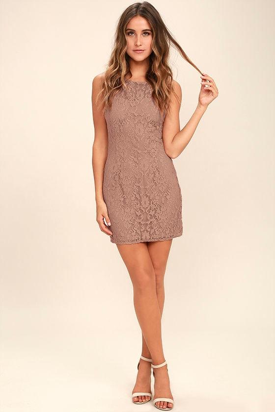 1b8de3a02f6f9 BB Dakota Thessaly - Mauve Dress - Lace Dress - Sleeveless Dress ...