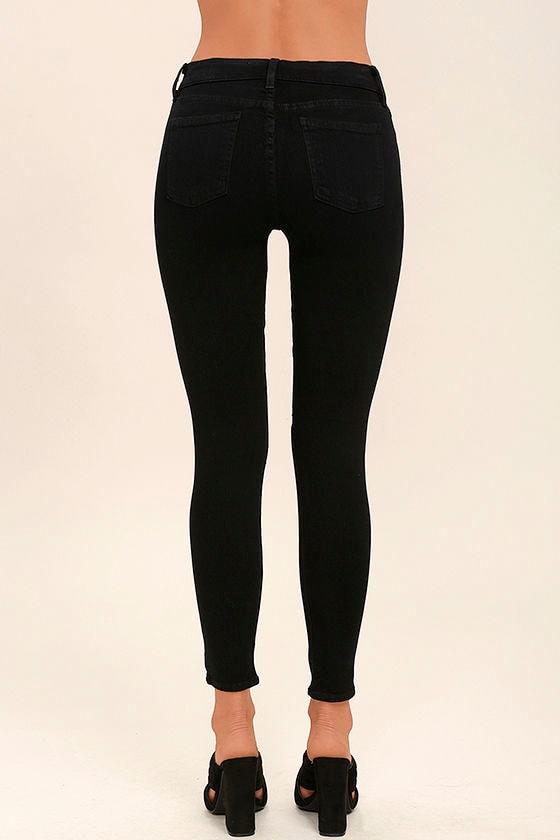 Aline Black Distressed Skinny Jeans 4