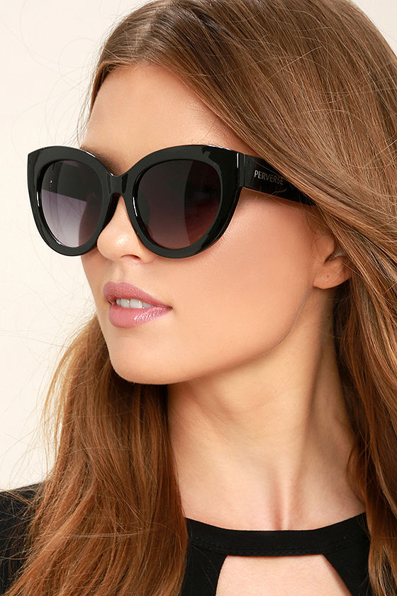 Perverse Dahlia Black Cat-Eye Sunglasses 1