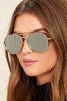 Perverse Solid Sunglasses Gold Sunglasses Mirrored Sunglasses