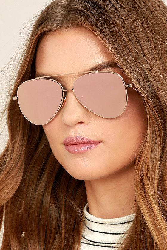 Perverse Toni Bologni Pink Mirrored Aviator Sunglasses 1