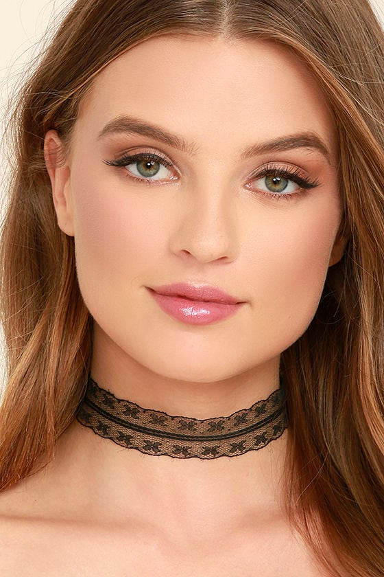 All Better Black Lace Choker Necklace 1