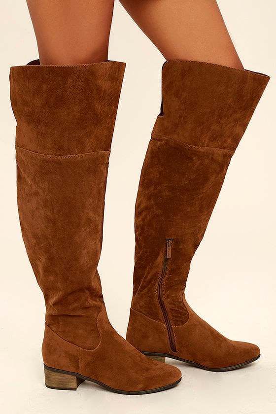 Dolly Tan Suede Over the Knee Boots 2