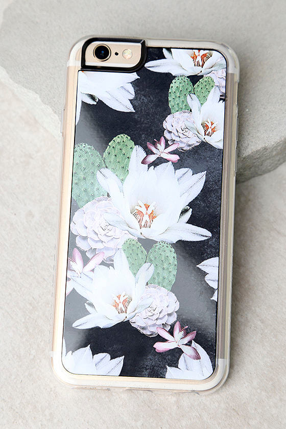 Zero Gravity After Dark Black Floral Print iPhone 6 and 6s Case 1