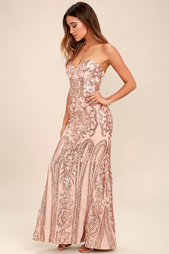 Strapless formal maxi dress